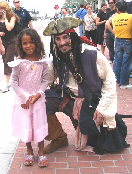 A Johnny Depp look-a-like. He even had fake gold teeth!